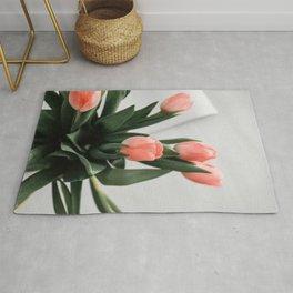 Peach Tulips Rug
