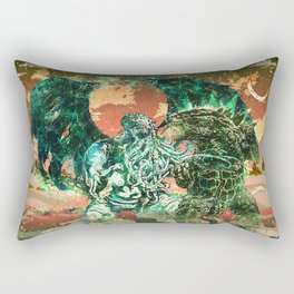 Cthulhu vs Godzilla Rectangular Pillow