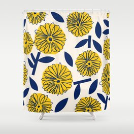 Floral_blossom Shower Curtain