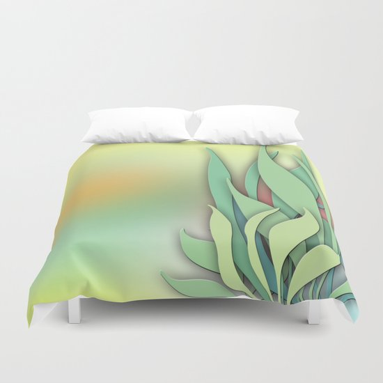 Abstract Plant in the Summer Duvet Cover