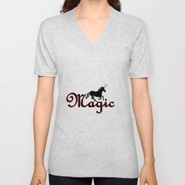 Magic Unicorn Unisex V-Neck