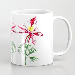Red Columbine Flower in watercolor Coffee Mug