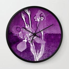 Iris Inspired Wall Clock