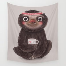 Sloth I♥lazy Wall Tapestry