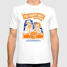 The Mighty Souls: Hip Hop Legends White SMALL Mens Fitted Tee
