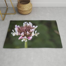 Red Clover Flower Rug
