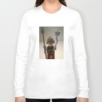 gladiator Long Sleeve T-shirts featuring Gladiator 'Cracalla the Gladiator' LEGO Custom Minifigure by Chillee Wilson by Chillee Wilson [Customize My Minifig]