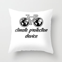 Climate Protective Device Throw Pillow