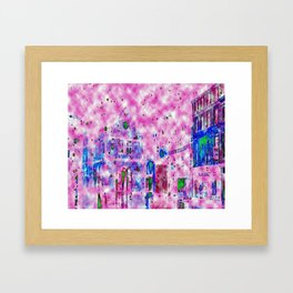 Shrewsbury up in the Clouds  Framed Art Print
