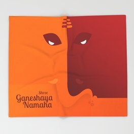 Shree Ganeshaya Namaha Throw Blanket