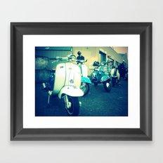 Ballard classic scooters Framed Art Print