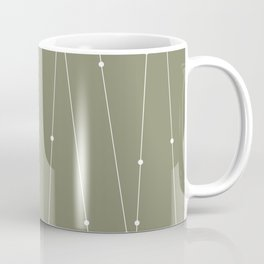 Contemporary Intersecting Vertical Lines in Sage Green Coffee Mug