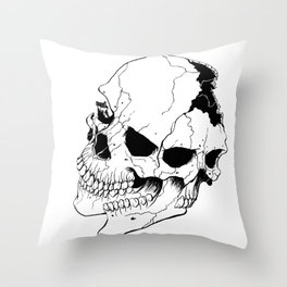 Skull (Fragmented and Conjoined) Throw Pillow