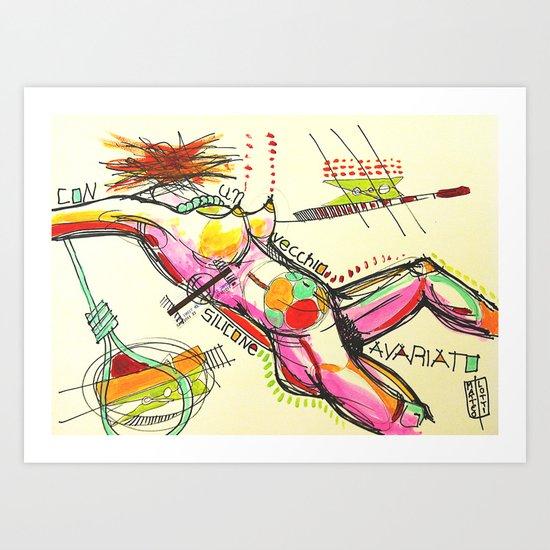 Silicone avariato Art Print