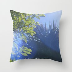 Sun/Trees Throw Pillow