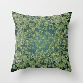 Verdant Leaves Throw Pillow