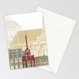 Liege skyline poster Stationery Cards
