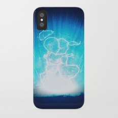 Cosmo + Celeste ( Colorful Cosmological Night Sky Couple in Love ) Slim Case iPhone X