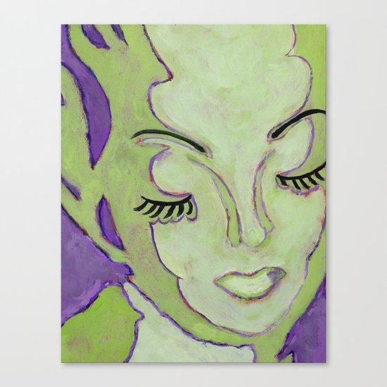 Mug Shot Green/Lares and Penates Series Canvas Print
