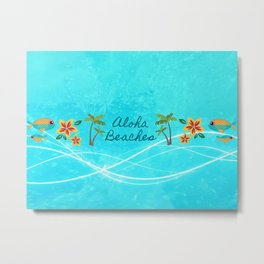 Aloha Beaches Metal Print