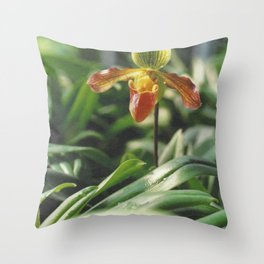 Orchidea. Orchidée. Orchid Flower. Throw Pillow