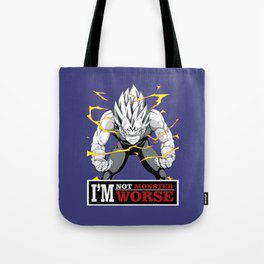 vegeta monster Tote Bag