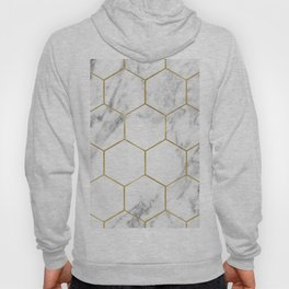 Gold marble hexagon pattern Hoody