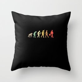 Vintage Businessman Evolution Business Gift Idea Throw Pillow