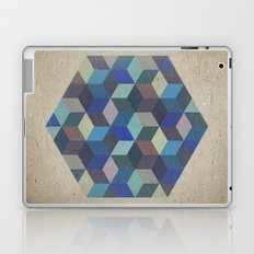 Dimension in blue Laptop & iPad Skin