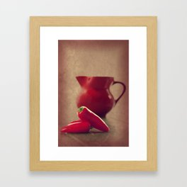 Hot red Pepper in still life Framed Art Print
