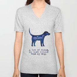 Starry Beagle - My Best Friend Unisex V-Neck