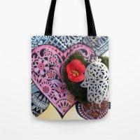 hamsa Tote Bags featuring hamsa by oxana zaika