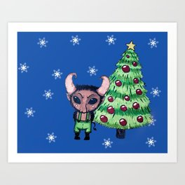Krampus the Christmas Devil Art Print