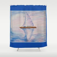 serenity Shower Curtains featuring Serenity by Ana Lillith Bar