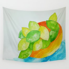 Lime Bowl Wall Tapestry