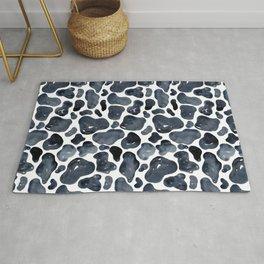 Watercolour Cow Print Rug