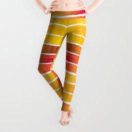 Warm Earth Watercolor Leggings