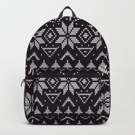 Knitted Christmas pattern in retro style 5 Backpack