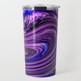 BLUE PURPLE ABSTRACTION Travel Mug