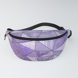 Purple Lilac Glamour Shiny Stained Glass Fanny Pack