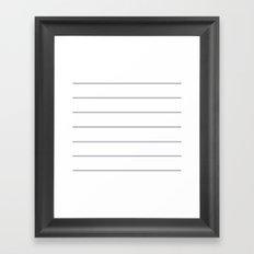 THIN GRAY STRIPE Framed Art Print