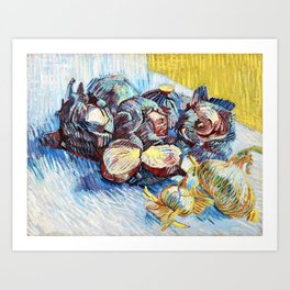 Vincent van Gogh -  Red Cabbages and Onions - Digital Remastered Edition Art Print