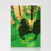 relax Stationery Cards featuring Relax by Geni