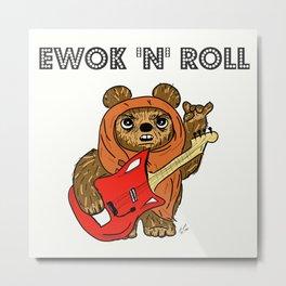 Ewok 'N' Roll Metal Print