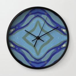 Blue Wave Nautical Medallion Wall Clock
