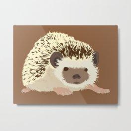 Hedgehog - Tan Metal Print