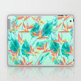 Birds Of Paradise Mint Laptop & iPad Skin