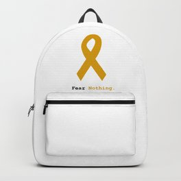 Fear Nothing: Gold Ribbon Awareness Backpack