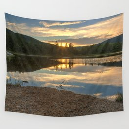 Lily Pond Sunset Wall Tapestry