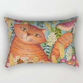 Cat in Love Rectangular Pillow